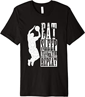 Eat Sleep Basketball Repeat Shirt Player Jump Shot T-Shirt
