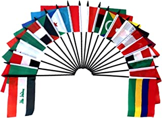 1 Dozen 4x 6 Iraqi Small Mini Hand Waving Stick Flags Flags Only Pack of 12 4x6 Iraq Polyester Miniature Desk /& Little Table Flags