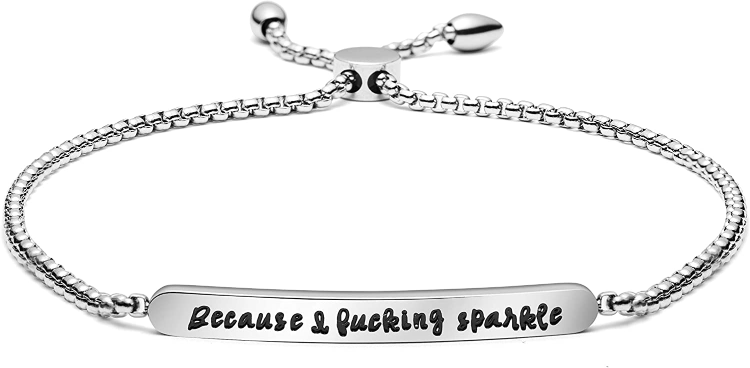 Bracelet Adjustable Stainless Steel Chain Link Max Easy-to-use 55% OFF Cancer Su Jewelry