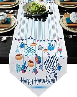 123 Hanukkah Spiral Table Runner