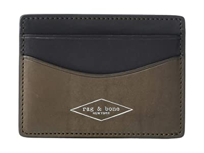 rag & bone Hampshire Card Case (Smog) Credit card Wallet