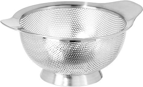 Amazon Com Oggi Stainless Steel Perforated Colander 1 5 Quart Kitchen Dining