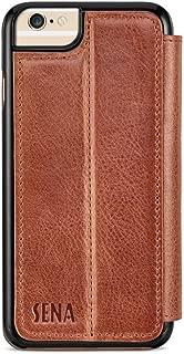 Sena Cases Genuine Leather WalletBook Iphone 7, Iphone 6/6S (Heritage Cognac)
