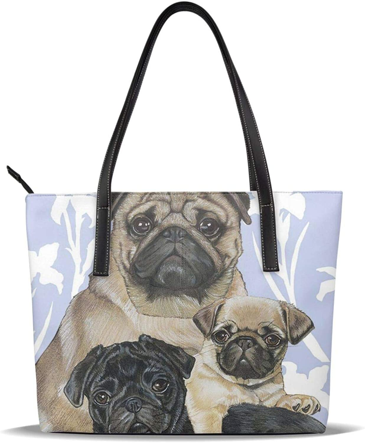 Pug Dog Family Baby Pet Mom Pattern Ha Leather Casual half Printed Pu Ranking TOP7