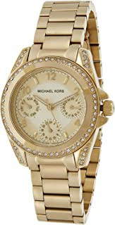 Michael Kors Women's Gold Dial Stainless Steel Band Watch - MK5639