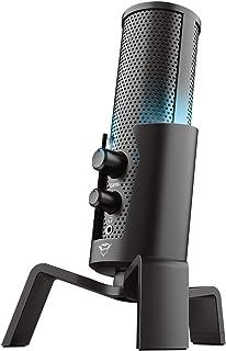 Trust Gaming Gxt 258 Fyru Microfono Streaming USB 4-In-1 per PC, PS4 e PS5, Nero