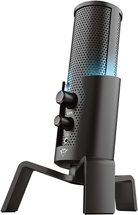 Microfono streaming usb 4-in-1 per pc, ps4 e ps5, nero trust gaming gxt 258 fyru 23465