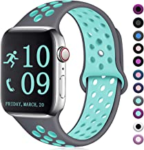 Zekapu Compatible with Apple Watch Band 40mm 44mm 42mm 38mm, Breathable Silicone Sport Replacement Wrist Band Compatible for iWatch/Apple Watch Series 5/4/3/2/1