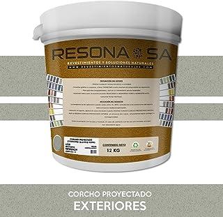 RESONA CORCHO PROYECTADO NATURAL EXTERIORES 12KG Blanco roto (021)