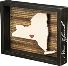 Primitives by Kathy 27790 Wanderlust Box Sign, 10.5 x 8-Inch, New York