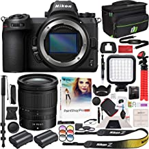 Nikon Z6 Mirrorless Camera Body FX-Format Full-Frame 4K Ultra HD with NIKKOR Z 24-70mm f/4 S Lens Kit and Deco Gear Travel Gadget Bag Case with Extra Battery & Accessory Kit Editing Software Bundle