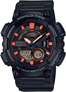 Casio Men's Dial Resin Band Watch - AEQ-110W-1A3VDF