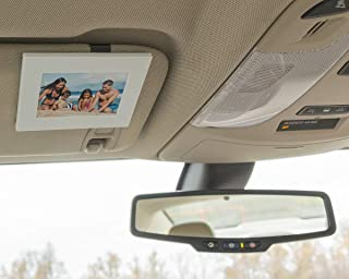 VISOR FRAMES - Clips to Car Sun Visor - Fits Standard Wallet Size Photo (2.5 inches x 3.5 inches) - Rotating Clip for Landscape or Portrait Position - Protects Pictures - White Hot