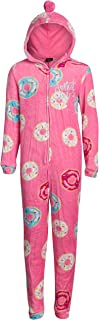 dELiAs Girls Coral Fleece Onesie Pajamas with Character Hood