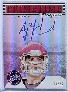 AJ McCarron 2014 Press Pass Gameday Gallery Auto RC NM-MT Rookie Football Trading Card #19/75 Alabama Crimson Tide Prime Time Players #PTP-AM