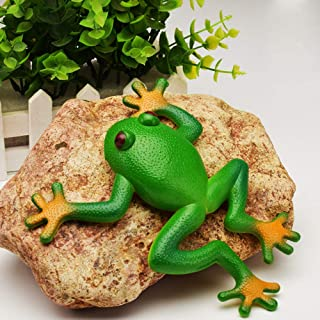 LYPYY Novelty Funny Toy squishy Frog Toy Simulation Soft Stretchable Rubber Frog Model Spoof Vent Toys for Children Kids Adults Jokes green