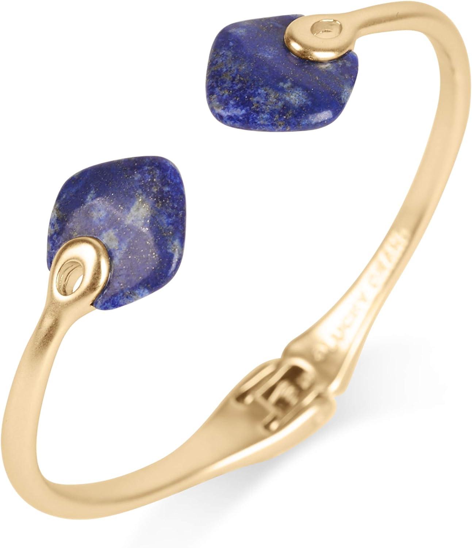 Lucky Brand Spade Stone Hinge Cuff Bracelet, Gold