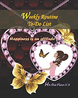 WEEKLY ROUTINE TO-DO LIST-HIT THE PLAN V.9: Weekly plan routine to do list for women-teens-students-boys-girls and lovely ...