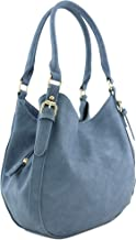 Light-weight 3 Compartment Faux Leather Medium Hobo Bag