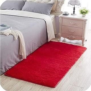 Bathroom Carpet Floor Rug Bedroom Kitchen Bathroom Mat Sofa Rug 1pcs Rectangle Solid Bath Mat Doorway Rug,Red,About 160x250cm