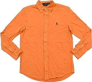Mens Featherweight Mesh Buttondown Shirt (L, May Orange)