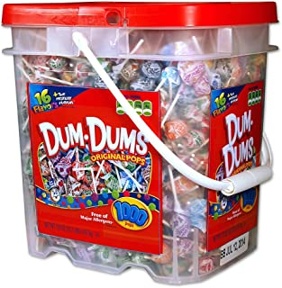 DUM DUMS Lollipops, Variety Flavor Mix, 1,000 Count Bucket