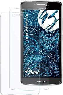 Bruni Skärmskydd är kompatibel med TP-Link Neffos C5L Film, kristallklart Skyddsfilm (2X)