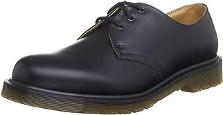Dr. Martens 中性款 1461 W PW 3 孔 Gibson 皮革,时尚牛津鞋 黑色 US UNISEX 7 MENS / 8 WOMENS