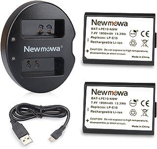 Newmowa キャノンLP-E10 互換バッテリー 2個 + 充電器 セットCanon EOS Rebel T3 T5 T6 T7 1100D 1200D 1300D 2000D 4000D EOS Kiss X50 EOS Kiss X70