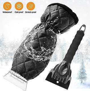 BIYI Snow Ice Raschietto per Auto Parabrezza per Auto Rimozione del Ghiaccio Strumento Pulito Strumento per la Pulizia dei vetri Inverno Autolavaggio Accessori Nero e Argento