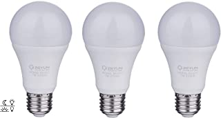 3 x ZEYUN Sensor de luz diurna E27 desde el crepúsculo hasta el amanecer, 12 W bombilla de luz blanca cálida 2700 K Interruptor automático con sensor de luz, paquete de 3