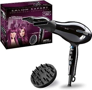 Imetec Salon Expert P2 2200 - Secador de pelo profesional, 2200 W, tecnología de iones, revestimiento de cerámica y turmalina, 8 combinaciones de aire/temperatura