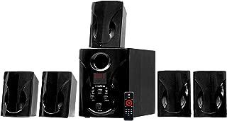 Krisons 5.1 Bluetooth Multimedia Speaker Compatible with TV/Laptop/Smartphones/Multimedia Devices,Black