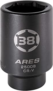ARES 25008-1/2-Inch Drive 6 Point Axle Nut Socket (38MM) – Extra Deep Impact Socket..