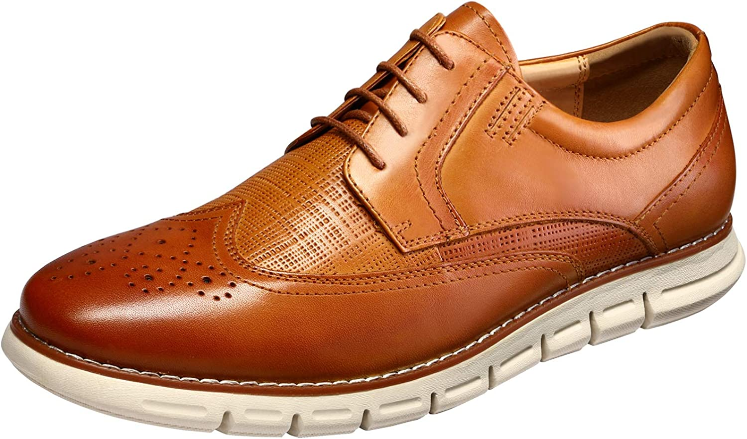 Bruno Marc Men's Oxford Dress Sneakers Casual Leather Dress Shoes