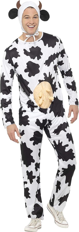 Smiffys Unisex Kuh Kostüm, Jumpsuit mit Euter und Kopfteil, Größe  One Größe, 29115 B003B9CKIW Umweltfreundlich  | Sehr gute Farbe