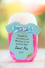 10 tags ~ TAG ONLY ~ Thanks for honoring our Mommy to be and her little sweet pea ~ baby shower ~ nail polish thank you ~ onesie gift tags ~ black ink ~ 2