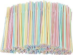 Verdelif 1000 stuks plastic lange rietjes, intrekbare feestrietjes set strip, melk thee rietjes accessoires, volwassen kin...