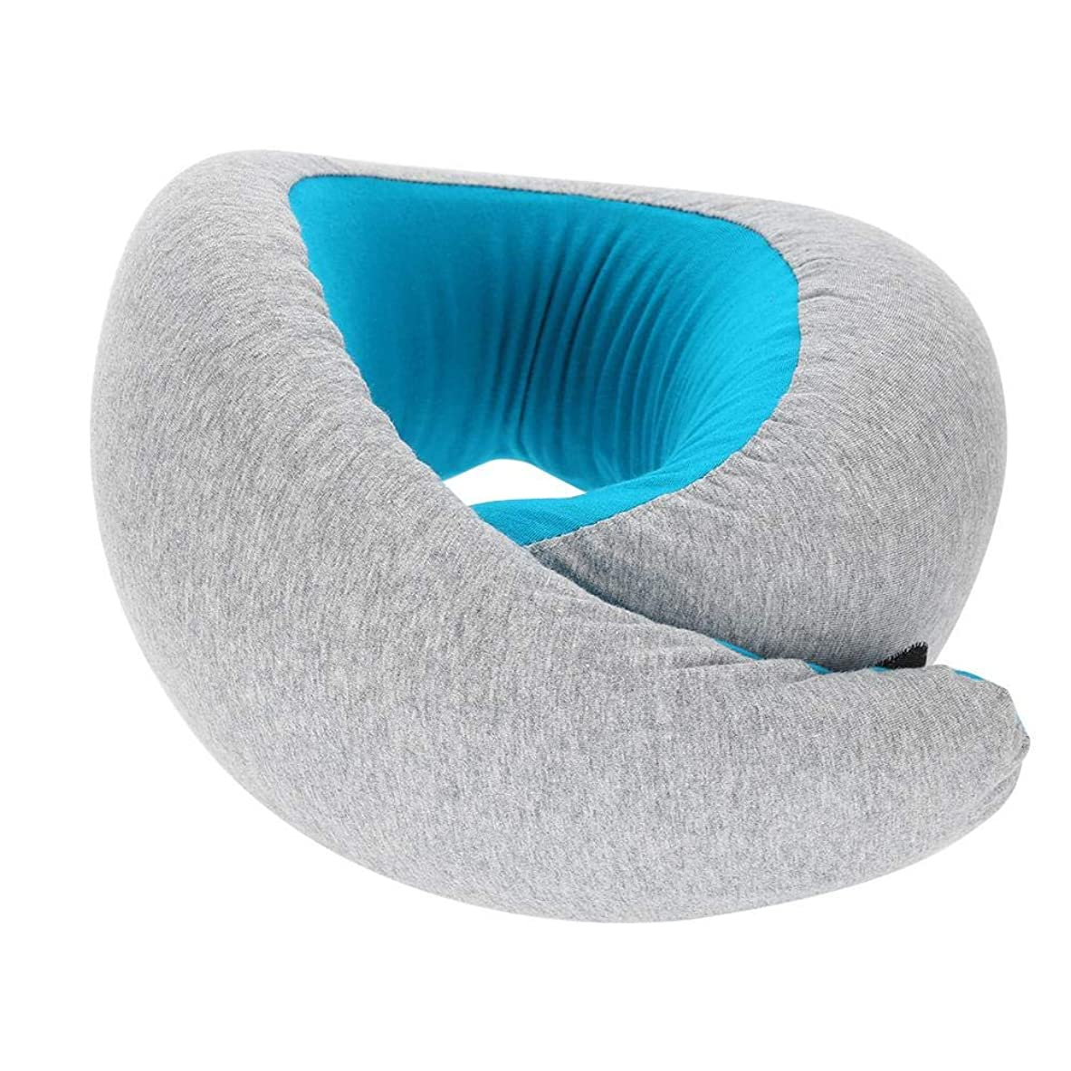 呼吸する空洞クリスチャン旅行ネックピロー、スーパーソフトメモリフォーム U字型ネックピロー 快適な伸縮性 ファブリックカバー付き 旅行枕 ネックサポート