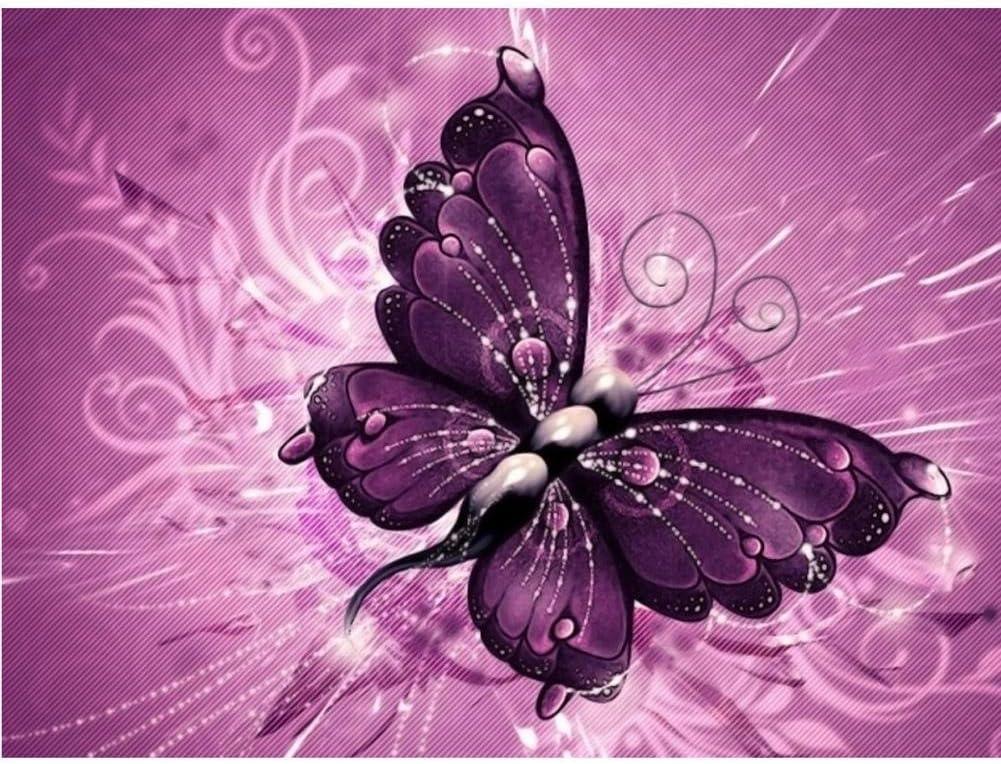 Decorazione da Parete per Soggiorno Camera da Letto Butterfly Zeagro 5D Diamond Painting Fai da Te Ricamo su Tela con Strass a Punto Croce