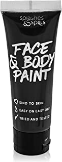 Face and Body Paint Cream - Black, 30ml - Pretend Costume and Dress Up Makeup by Splashes & Spills
