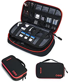 BAGSMART Electronic Organizer Travel Cable Organizer Bag Portable Electronic Accessories Bag for Cable, USB, Black
