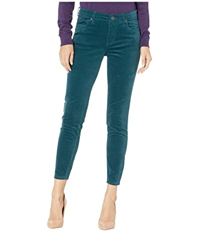 KUT from the Kloth Donna Ankle Skinny in Velvet in Teal (Teal) Women
