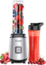 homgeek Personal Mini Blender Smoothie Maker, Portable Juicer Cup, Electric Power Mixer for Fruit and Vegetable,with Trave...