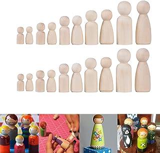 65mm gotyou 20 Pi/èces Poup/ées en Bois Jouet,Bois Couleur Naturel en Bois Poup/ée,Bois Artisanat Graffiti de Bricolage Jouet pour Enfants D/écor de F/ête