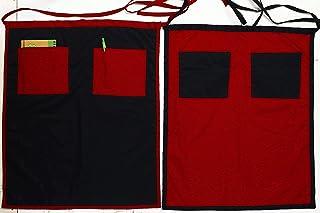 2 Grembiuli cucina in stile barman nella versione lunga, dotato di doppia tasca frontale