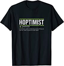 HOPTIMIST Definition Craft Beer T-Shirt
