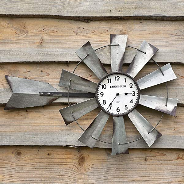 CTW Home Collection Long Windmill Wall Clock
