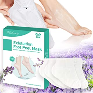 Mixbeauty Foot Peel Mask 2 Pack, Exfoliating Foot Mask, Peeling Away Calluses, Repair Rough and Cracked Heels, Get Soft Feet (Lavender)