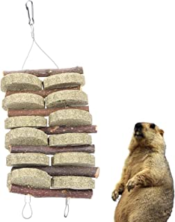 Voluxe Kanin gräs kaksträng, äpplewood + grästårta husdjur tugga gräs sträng för husdjur tänder slipning för marsviner